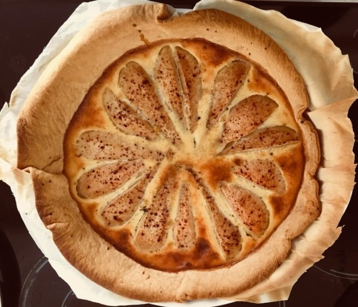 pear pie baked